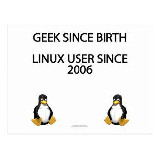 Friki desde nacimiento. Usuario de Linux desde Tarjetas Postales