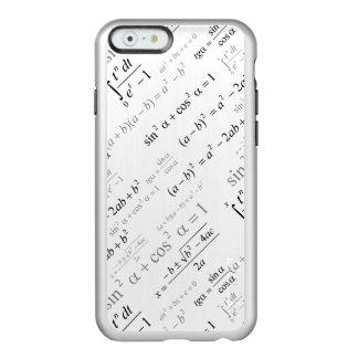 Friki divertido de la matemáticas de las fórmulas funda para iPhone 6 plus incipio feather shine