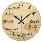 """Friki divertido de la matemáticas - """"grano de made relojes de pared"""