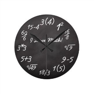 Friki divertido de la matemáticas relojes