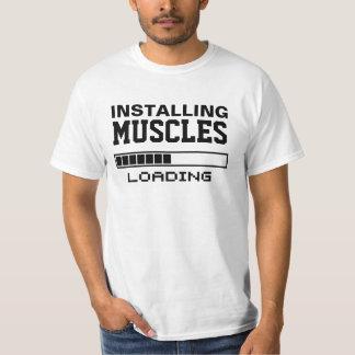 Friki divertido de los músculos camisas