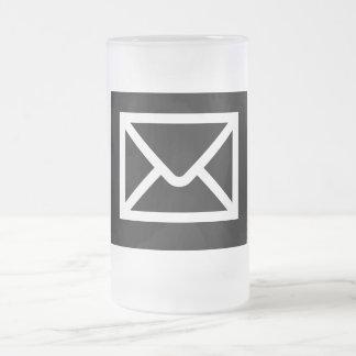Friki ÉL taza del vidrio del correo electrónico de