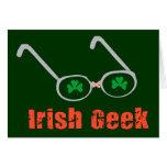 Friki irlandés tarjeton