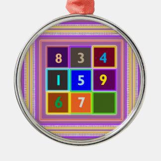 FRIKI: Juegos de concurso para los niños Adorno Redondo Plateado