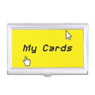 Friki mi tenedor de la tarjeta de visita caja de tarjetas de negocios