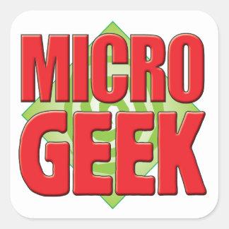 Friki micro v2 pegatinas cuadradas personalizadas