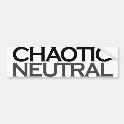 Friki neutral caótico pegatina para auto
