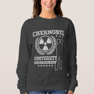 Friki nuclear de la ciencia de la universidad de sudadera