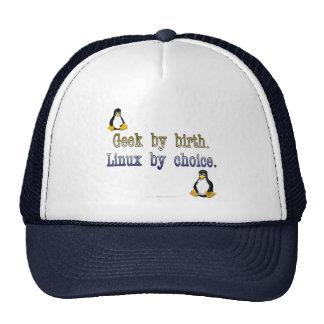 Friki por nacimiento. Linux por la opción Gorras