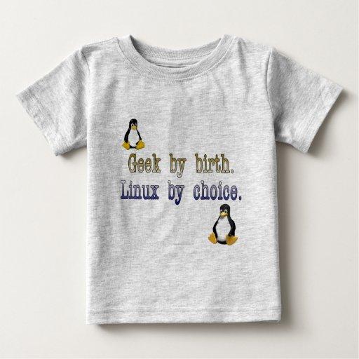 Friki por nacimiento. Linux por la opción Playera De Bebé