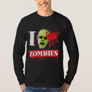 Friki salpicado sangre del zombi camisas