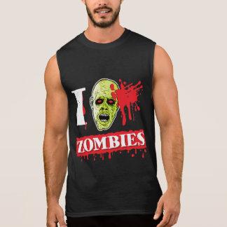 Friki salpicado sangre del zombi remera sin mangas