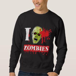 Friki salpicado sangre del zombi sudadera