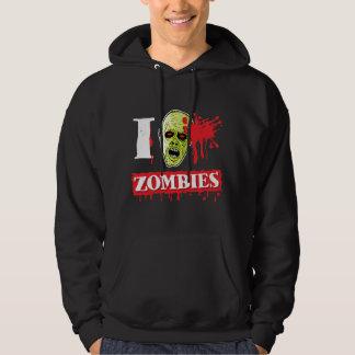 Friki salpicado sangre del zombi sudadera con capucha