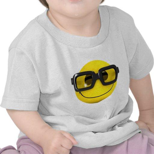 friki sonriente del empollón 3d camiseta