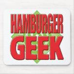 Friki v2 de la hamburguesa alfombrilla de ratones