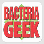 Friki v2 de las bacterias calcomanía cuadrada
