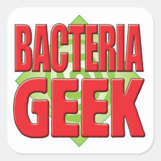 Friki v2 de las bacterias pegatina cuadrada