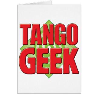 Friki v2 del tango tarjeta de felicitación