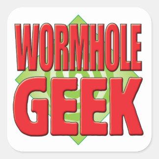 Friki v2 del Wormhole Pegatina Cuadrada