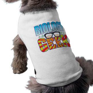 Friki v4 de la biología playera sin mangas para perro