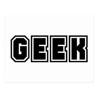 Frikis Dorky Geeky de la declaración de las letras Postal