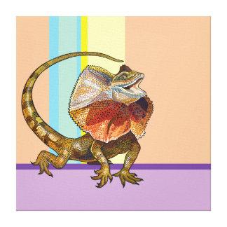 frill necked lizard canvas print