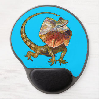 frill necked lizard gel mouse pad