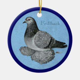 Frillback Blue Grizzle Ceramic Ornament