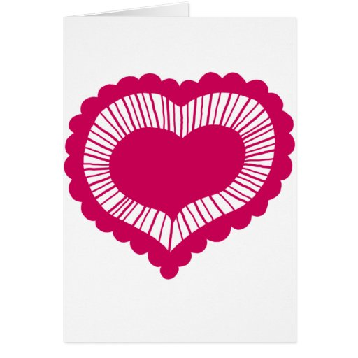 Frilled Heart Greeting Card
