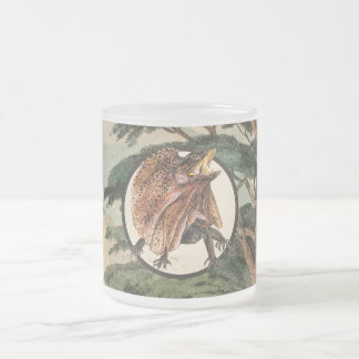 Frilled Lizard In Natural Habitat Illustration Frosted Glass Coffee Mug