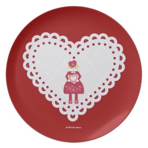 Frilly, Fancy Martzkin Valentine Treat Plate