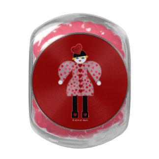 Frilly, Fancy Valentine Candy Jar Jelly Belly Candy Jar