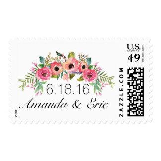 Frilly Floral Postage Stamp