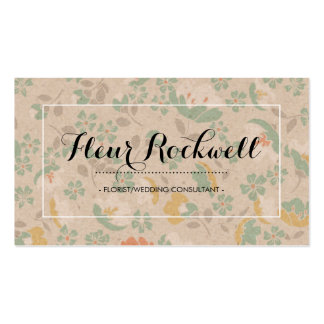 Frilly Floral Print Business Card
