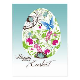 Frilly Florals Easter Egg Postcard
