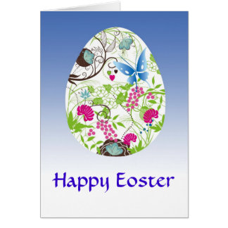 Frilly Florals Eoster Egg Card