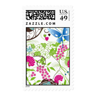 Frilly Florals Postage Stamp