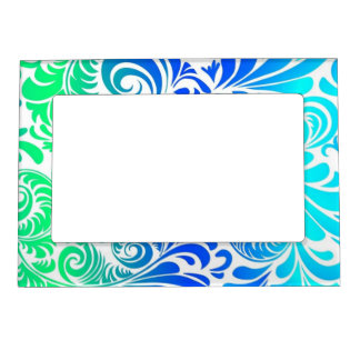 Frilly Fronds 2 Photo Frame Magnets