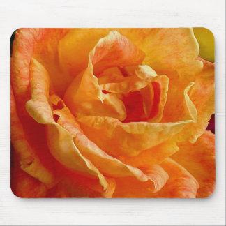 Frilly Orange Rose Gift Range Mouse Pad