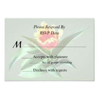 Frilly Orange Tulip Wedding Products Card