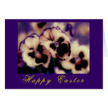 Frilly Pansies! Easter Card (flora photography) Card