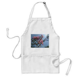 Frilly Pink Flowers Natural Botanical Adult Apron