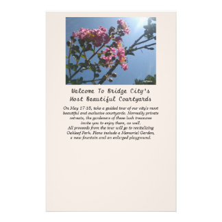 Frilly Pink Flowers Natural Botanical Personalized Flyer