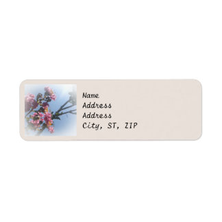 Frilly Pink Flowers Natural Botanical Label