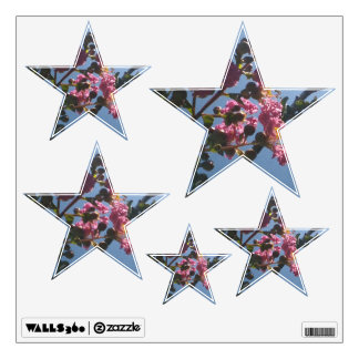 Frilly Pink Flowers Natural Botanical Wall Stickers