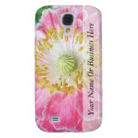 Frilly Pink Poppy Galaxy S4 Case