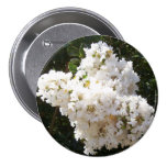 Frilly White Crepe Myrtle Corsage - Allergy-Free! Pins