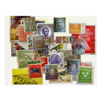 Frimärkssamling Postcard