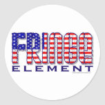 Fringe Element Round Sticker
